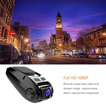 APEMAN C550 Autokamera Dashcam Full HD versteckte DVR Dual Lens 170 ° Weitwinkelobjektiv GPS kompatibel mit G-Sensor, Automatische Loop-Zyklus Aufnahme, Bewegungserkennung - 3