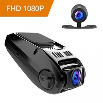 APEMAN C550 Autokamera Dashcam Full HD versteckte DVR Dual Lens 170 ° Weitwinkelobjektiv GPS kompatibel mit G-Sensor, Automatische Loop-Zyklus Aufnahme, Bewegungserkennung - 1