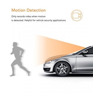 APEMAN C550 Autokamera Dashcam Full HD versteckte DVR Dual Lens 170 ° Weitwinkelobjektiv GPS kompatibel mit G-Sensor, Automatische Loop-Zyklus Aufnahme, Bewegungserkennung - 7