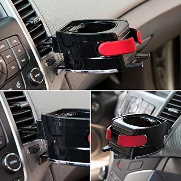 BESTEK Multifunktion Getränkehalter Lüftungshalterung Handyhalterung,geeingnet für alle Iphone / Nokia / Samsung / Huawei / Xiaomi / Gigaset,Rot - 2
