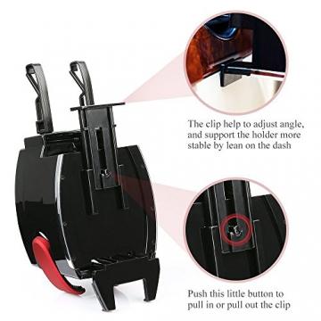 BESTEK Multifunktion Getränkehalter Lüftungshalterung Handyhalterung,geeingnet für alle Iphone / Nokia / Samsung / Huawei / Xiaomi / Gigaset,Rot - 8