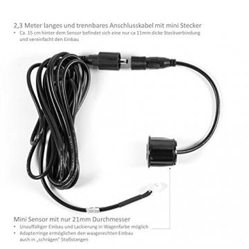 Einparkhilfe Rückfahrwarner CM-PDC1 Parksensoren Parkassistent 4 lackierbare Sensoren - 2