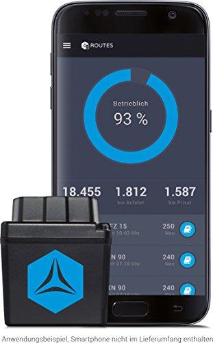 FLEETIZE Elektronisches Fahrtenbuch, Finanzamtkonform, GPS Tracker mit EU-SIM-Karte, Fahrtenschreiber, OBD2-Betrieb am PKW und LKW, integrierter Sabotageschutz, vollautomatisch, flottenfähig, kabellos - 2