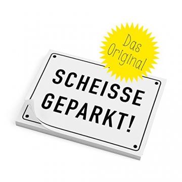 Haftnotizen - SCHEISSE GEPARKT - 1