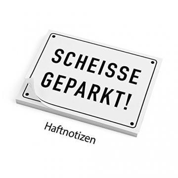 Haftnotizen - SCHEISSE GEPARKT - 2
