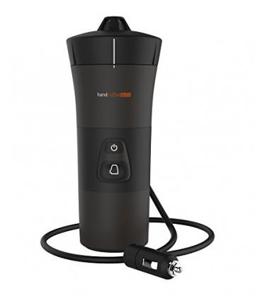 Handpresso 48264 - Handcoffee Auto 12 Volt in schwarz für Kaffeepads aller Marken - auch an einer Steckdose mit separat erhältlichem Stromadapter verwendbar - 1