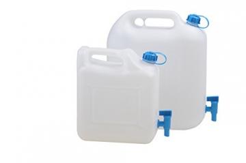 hünersdorff Wasserkanister ECO mit festmontiertem Ablasshahn / Wasserauslauf, 12 Liter, Made in Germany - 2