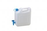 hünersdorff Wasserkanister ECO mit festmontiertem Ablasshahn / Wasserauslauf, 12 Liter, Made in Germany - 1