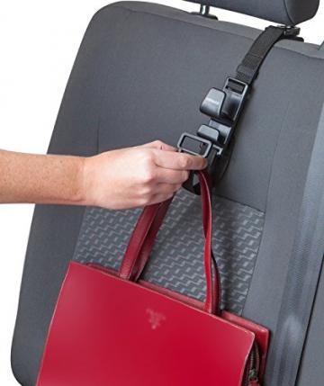 Kewago Auto-Handtaschenhalter. Der clevere Handtaschen Haken für die Kopfstütze - 3