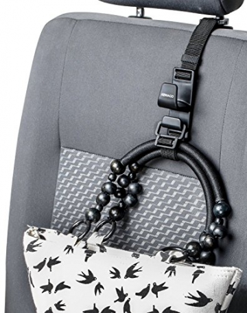 Kewago Auto-Handtaschenhalter. Der clevere Handtaschen Haken für die Kopfstütze - 7