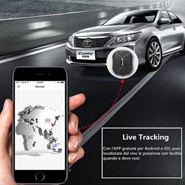 LEKEMI GPS Tracker Fahrzeug-Tracker mit einem starken Magnet, einer 5.000 mAh Batterie und kostenlosen Apps - 2