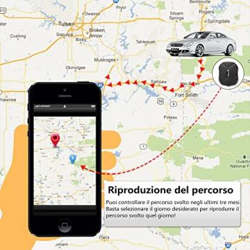 LEKEMI GPS Tracker Fahrzeug-Tracker mit einem starken Magnet, einer 5.000 mAh Batterie und kostenlosen Apps - 3
