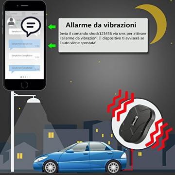 LEKEMI GPS Tracker Fahrzeug-Tracker mit einem starken Magnet, einer 5.000 mAh Batterie und kostenlosen Apps - 4