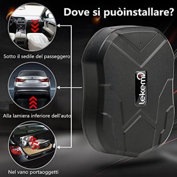 LEKEMI GPS Tracker Fahrzeug-Tracker mit einem starken Magnet, einer 5.000 mAh Batterie und kostenlosen Apps - 7