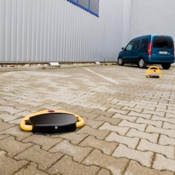Lescars Parkplatzwächter: Automatische Parkplatzsperre mit Akku & Fernbedienung (Parksperre mit Fernbedienung) - 9