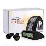 Reifendruckkontrollsystem, CARCHET TPMS Reifendruckmesser Reifendruckkontrolle mit 4 Sensoren, Reifendruck-und Temperatur anzeigen + intern Solarzelle für Wohnmobil, Auto, KFZ usw - 1