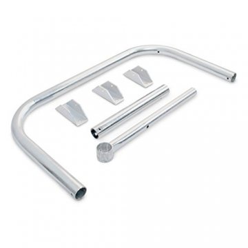 Relaxdays Parkplatzsperre klappbar, Sperrbügel mit Vorhängeschloss & 3 Schlüsseln, Metall, HBT: 45 x 76 x 32 cm, silber - 5