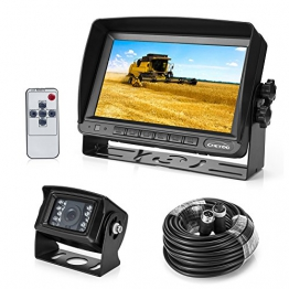 """Rückfahrkamera 18 IR LED Wasserdicht Rückfahrsystem Kamera + 7"""" TFT LCD KFZ Monitor ( Zwei Halterungen) - 1"""