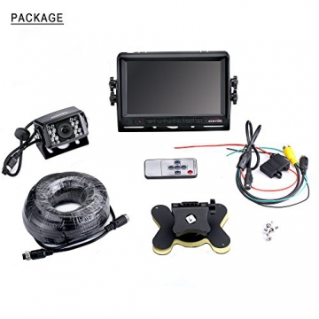 Rückfahrkamera 18 IR LED Wasserdicht Rückfahrsystem Kamera + 7