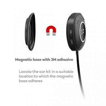 TaoTronics Bluetooth Adapter Auto Bluetooth Empfänger Receiver mit Freisprecheinrichtung und APTX (3.5mm Audio Klinke, Dual USB Port KFZ Ladegerät) - 2