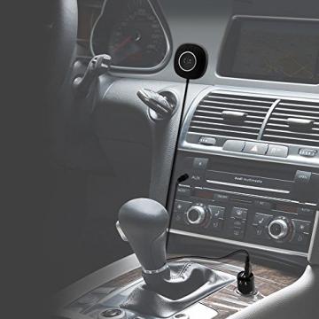 TaoTronics Bluetooth Adapter Auto Bluetooth Empfänger Receiver mit Freisprecheinrichtung und APTX (3.5mm Audio Klinke, Dual USB Port KFZ Ladegerät) - 4