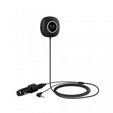 TaoTronics Bluetooth Adapter Auto Bluetooth Empfänger Receiver mit Freisprecheinrichtung und APTX (3.5mm Audio Klinke, Dual USB Port KFZ Ladegerät) - 1