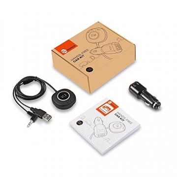 TaoTronics Bluetooth Adapter Auto Bluetooth Empfänger Receiver mit Freisprecheinrichtung und APTX (3.5mm Audio Klinke, Dual USB Port KFZ Ladegerät) - 7
