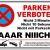 TATMOTIVE PS01 Parkverbotsschild lustig Schild Parken verboten inkl. Schrauben & Löcher / 300 x 200 x 3 mm - 1