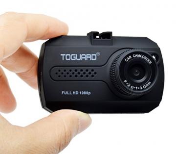 TOGUARD Mini 1080P Auto Kamera Dashcam DVR Recorder Eingebauter G-Sensor Bewegungserkennung Loop Recorder Nachtsicht (SD Karte ist Nicht Enthalten) - 2