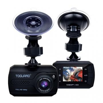 TOGUARD Mini 1080P Auto Kamera Dashcam DVR Recorder Eingebauter G-Sensor Bewegungserkennung Loop Recorder Nachtsicht (SD Karte ist Nicht Enthalten) - 1