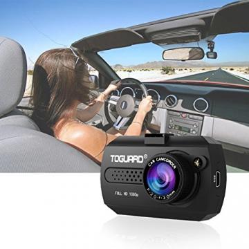 TOGUARD Mini 1080P Auto Kamera Dashcam DVR Recorder Eingebauter G-Sensor Bewegungserkennung Loop Recorder Nachtsicht (SD Karte ist Nicht Enthalten) - 5