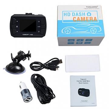 TOGUARD Mini 1080P Auto Kamera Dashcam DVR Recorder Eingebauter G-Sensor Bewegungserkennung Loop Recorder Nachtsicht (SD Karte ist Nicht Enthalten) - 7