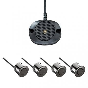 VSG® Einparkhilfe mit einem akustischen Signalgeber und inklusive 4 Sensoren in schwarz für hinten - 1