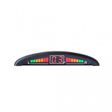VSG ® VSG Premium Einparkhilfe mit Farb-Display und eingebauten Pieper inklusiv 4 Sensoren in schwarz für hinten - 8