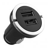 Wicked Chili Turbo-ID 2400mA/12W Zweifach USB KFZ-Ladegerät für Apple iPhone/iPad /iPod Air, Touch, Mini, Pro, X, 8, 8 Plus, 7, 7 Plus, 6S, 6S Plus, 6, 6 Plus, SE, 5S, 5 (2.4 A Multi Port, V4.0) - 1