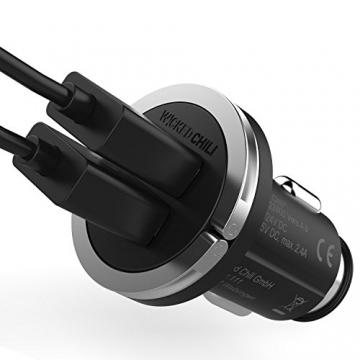 Wicked Chili Turbo-ID 2400mA/12W Zweifach USB KFZ-Ladegerät für Apple iPhone/iPad /iPod Air, Touch, Mini, Pro, X, 8, 8 Plus, 7, 7 Plus, 6S, 6S Plus, 6, 6 Plus, SE, 5S, 5 (2.4 A Multi Port, V4.0) - 9